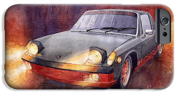 Auto iPhone Cases - Porsche 914 iPhone Case by Yuriy  Shevchuk