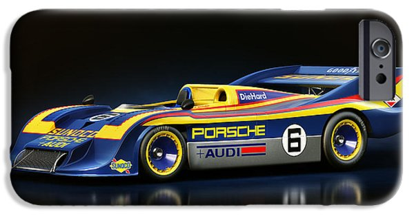 Old Cars iPhone Cases - Porsche 917/30 iPhone Case by Marc Orphanos