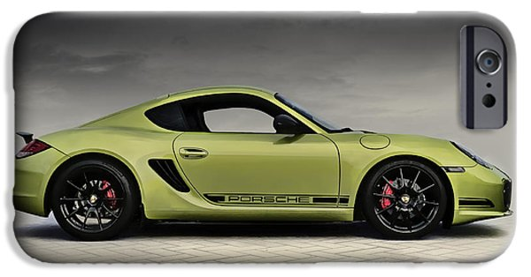 Racing iPhone Cases - Porsche Cayman R iPhone Case by Douglas Pittman