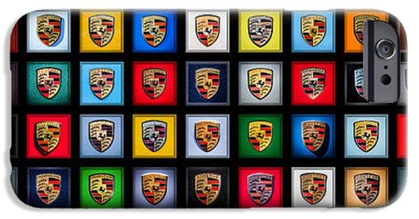 Automotive iPhone Cases - Porsche Logos - Please Read Description iPhone Case by Jill Reger