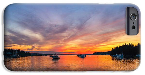 Michael iPhone Cases - Port Clyde Sunset iPhone Case by Michael Ver Sprill