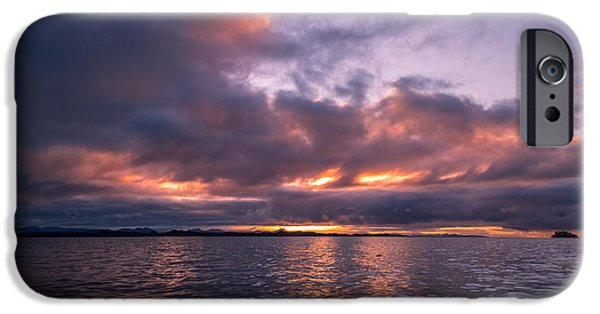 Port Hardy iPhone Cases - Port Hardy Sunrise iPhone Case by Michael J Bauer