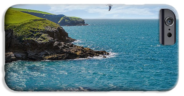Flying Seagull iPhone Cases - Port Isaac Coastline iPhone Case by Amanda And Christopher Elwell