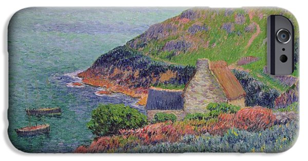 1856 iPhone Cases - Port Manech iPhone Case by Henry Moret