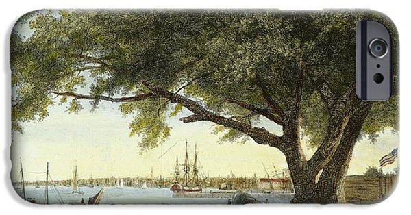1800 iPhone Cases - Port Of Philadelphia, 1800 iPhone Case by Granger