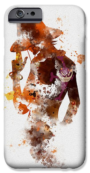 Animation iPhone Cases - Portgas D. Ace iPhone Case by Rebecca Jenkins
