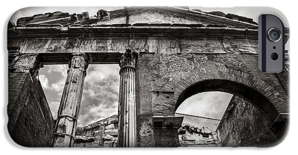 Ancient Ruins iPhone Cases - Porticus Octaviae in Rome iPhone Case by Diane Diederich