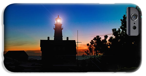Winter In Maine iPhone Cases - Portland Head Light - Maine iPhone Case by Joann Vitali