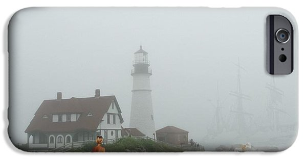 New England Lighthouse iPhone Cases - Portland Head Light iPhone Case by Mike Breau