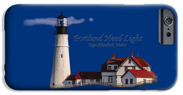 New England Lighthouse iPhone Cases - Portland Head Light No. 43 iPhone Case by Mark Myhaver