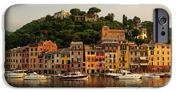 Europe Photographs iPhone Cases - Portofino bay iPhone Case by Neil Buchan-Grant
