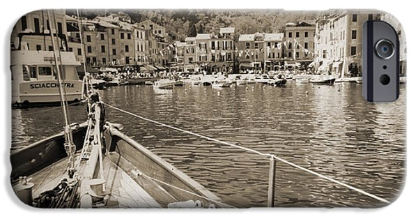 Sailboats iPhone Cases - Portofino Italy from Solway Maid iPhone Case by Dustin K Ryan