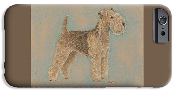 Dogs iPhone Cases - Portrait of an Airedale iPhone Case by Lori Bush