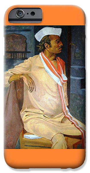 Virtual iPhone Cases - Portrait of an East Indian man with a traditional ethnic wear  iPhone Case by Makarand Joshi