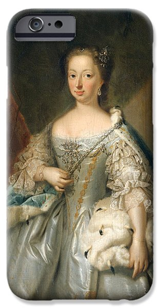 Princess Anne iPhone Cases - Portrait of Anne of Hanover Princess Royal and Princess of Orange Consort of Prince William IV iPhone Case by Attributed to Johann Valentin Tischbein