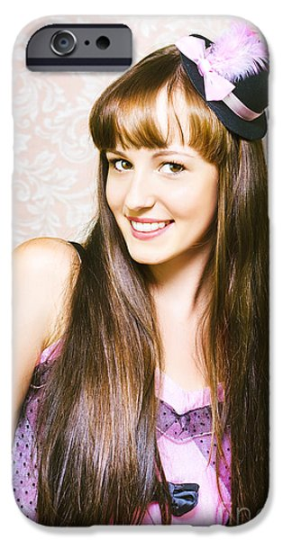 Youthful iPhone Cases - Portrait of beautiful smiling woman iPhone Case by Ryan Jorgensen