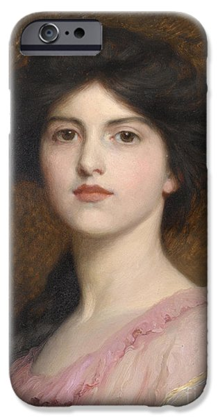 Sutton iPhone Cases - Portrait of Camille Sutton Palmer iPhone Case by Celestial Images