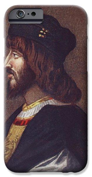 Politician iPhone Cases - Portrait Of Cesare Borgia, 1475 Or 1476 iPhone Case by Ken Welsh