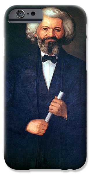Orator Paintings iPhone Cases - Portrait of Frederick Douglass iPhone Case by American School