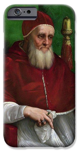 Portrait of Pope Julius II - 1511 iPhone Case by Raphael