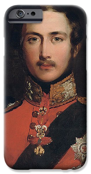 British Portraits iPhone Cases - Portrait of Prince Albert iPhone Case by John Lucas