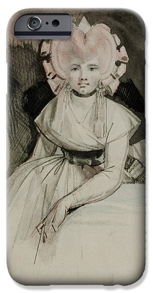 Swiss Drawings iPhone Cases - Portrait of the Artists Wife iPhone Case by Henry Fuseli