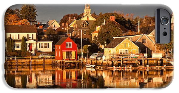 Seacoast iPhone Cases - Portsmouth Reflections iPhone Case by Susan Cole Kelly