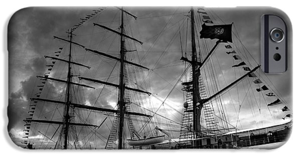 Brig iPhone Cases - Portuguese tall ship iPhone Case by Gaspar Avila