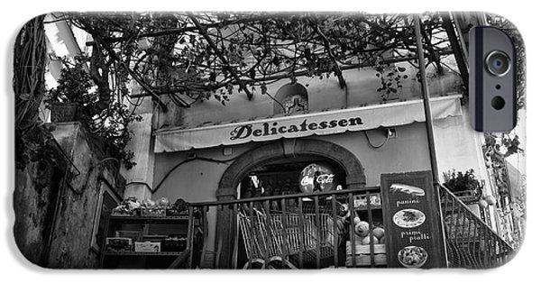 Delicatessen iPhone Cases - Positano Delicatessen iPhone Case by John Rizzuto