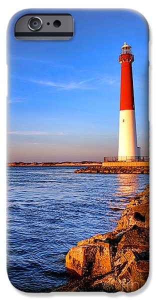 Jersey Shore iPhone Cases - Postcard from Barnegat  iPhone Case by Olivier Le Queinec