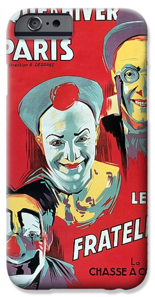 1879 iPhone Cases - Poster advertising the Fratellini Clowns iPhone Case by French School