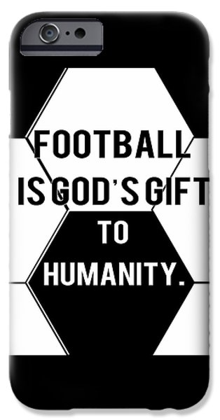 Sports Tapestries - Textiles iPhone Cases - Poster Football iPhone Case by BestCit Art