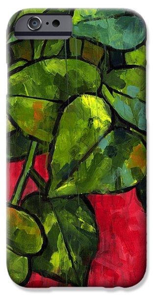 Plants iPhone Cases - Pothos 3 iPhone Case by Douglas Simonson