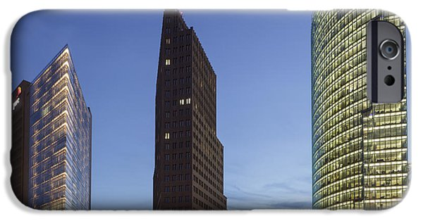 Piano iPhone Cases - Potsdamer Platz in Berlin iPhone Case by Julie Woodhouse