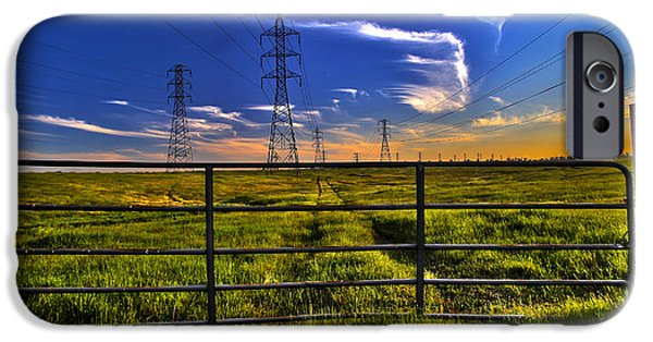 Electrical iPhone Cases - Power Line  Access 5514 iPhone Case by Brett Wiatre