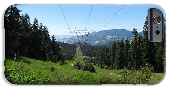 Electrical iPhone Cases - Power Lines iPhone Case by David Blees