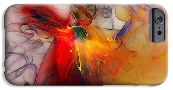 Contemporary Abstract iPhone Cases - Powers of Expression iPhone Case by Karin Kuhlmann