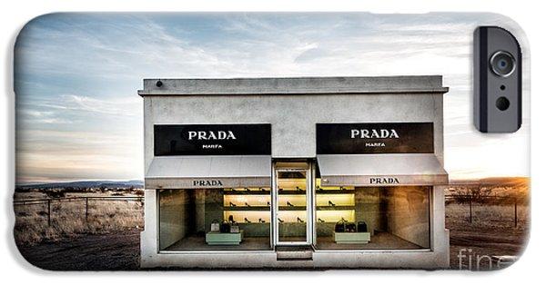 Installation Art Photographs iPhone Cases - Prada Marfa iPhone Case by Edward Fielding