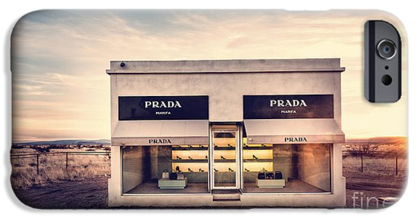 Texas Artist iPhone Cases - Prada Store iPhone Case by Edward Fielding