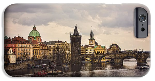 City Scape iPhone Cases - Prague 1 iPhone Case by Heather Applegate