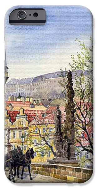 Prague Charles Bridge Spring iPhone Case by Yuriy  Shevchuk