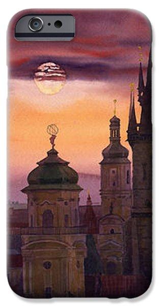 Prague City of hundres spiers iPhone Case by Yuriy  Shevchuk