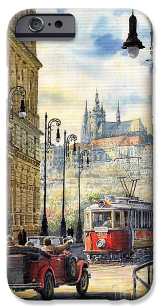 City Scenes iPhone Cases - Prague Kaprova Street iPhone Case by Yuriy  Shevchuk