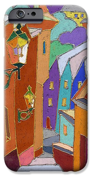 Buildings iPhone Cases - Prague Old Steps Winter iPhone Case by Yuriy  Shevchuk