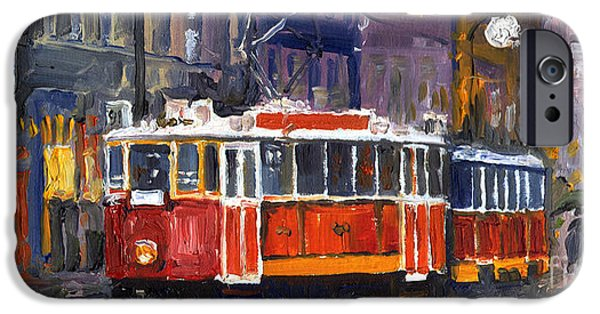 Canvas iPhone Cases - Prague Old Tram 09 iPhone Case by Yuriy  Shevchuk
