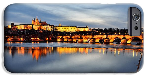Charles River iPhone Cases - Prague Reflections iPhone Case by Presiyan Petkov