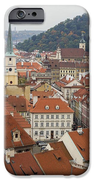Built Structure iPhone Cases - Prague Rooftops iPhone Case by Chris Smith