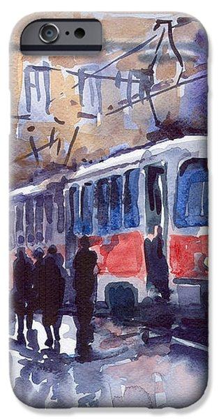 Prague Tram 02 iPhone Case by Yuriy  Shevchuk