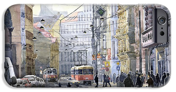 People iPhone Cases - Prague Vodickova str iPhone Case by Yuriy  Shevchuk