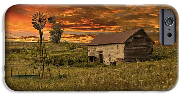Meadow Photographs iPhone Cases - Prairie Barn iPhone Case by Jonas Wingfield